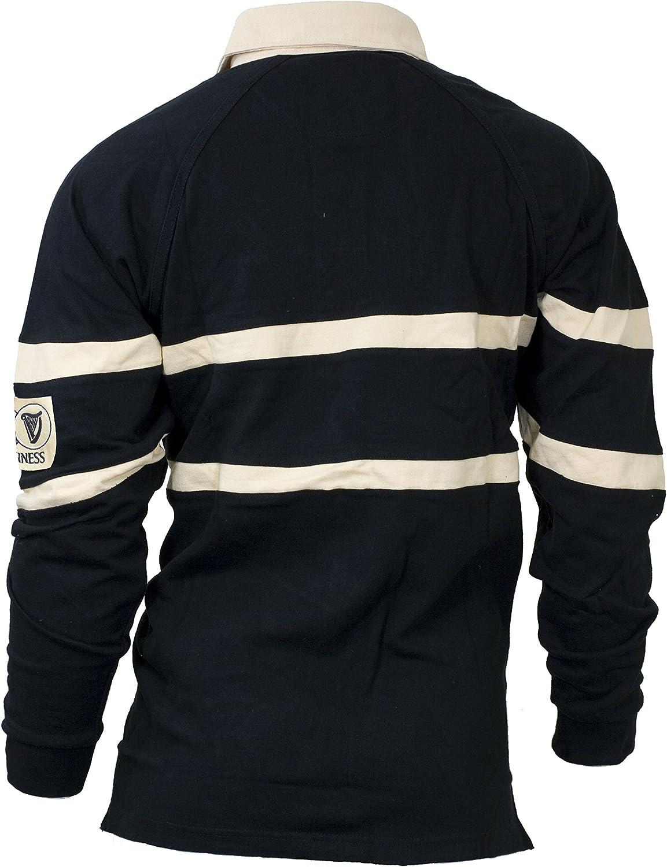 Guinness Para Hombre, color negro y crema tradicional de Rugby Camisa XXL: Amazon.es: Hogar
