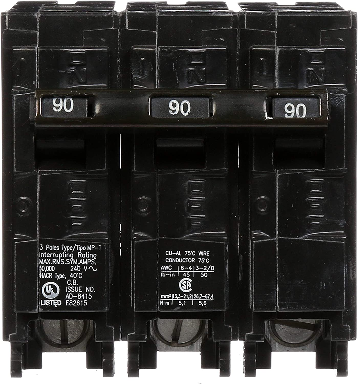 MP390 90-Amp Three Pole Type MP-T Circuit Breaker