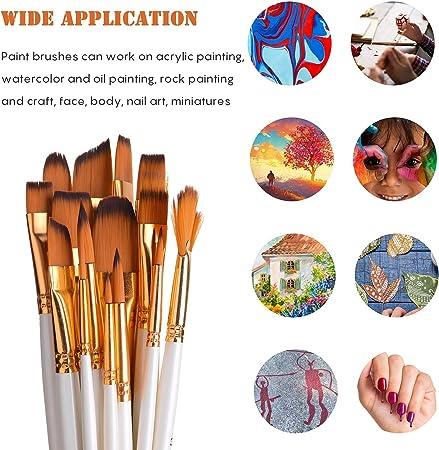Ertisa Pinselset Malen 6 St/ück Spachtel 15 St/ück Pinselset Gem/älde Acrylpinsel-K/ünstlerpinsel f/ür Aquarellmalerei /Ölmalerei Flachpinsel B/ürste,Schw/ämmen Premium Nylon Pinsel f/ür Anf/änger