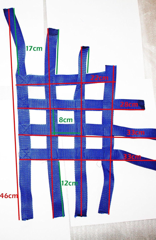 Nerf Bar fussgi Karit/é nerveux Bar r/éseau Textile Shin Eray 250/ST de 9e stixe Spyder Quad ATV bleue