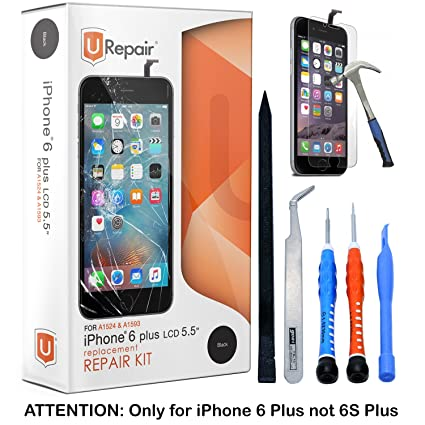 iphone 6 screen replacement. iphone 6 plus screen replacement - black lcd premium complete repair kit with tools iphone