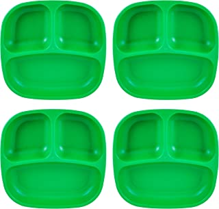 """product image for Re-Play Recycled Products Small Divided Plates, Set of 4 (7.375"""" Divided Deep Walled Plates, Kelly Green)"""