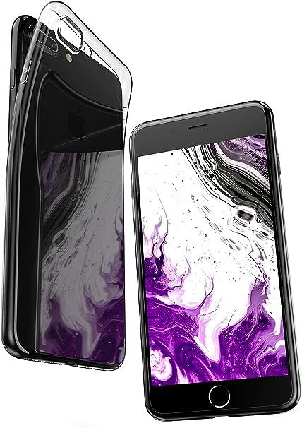 COVERbasics Cover Compatibile con iPhone 7 Plus / 8 Plus (AIRGEL 0.3mm) Custodia Trasparente in Silicone con Protezione Fotocamera, Anti Ingiallimento ...