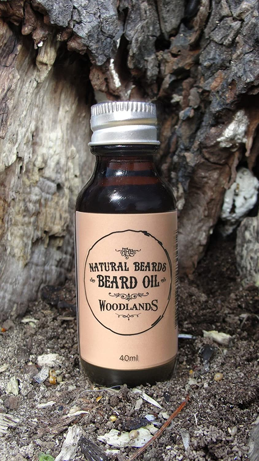 Natural Beards 40ml Premium Beard Oil. A Light Woody Eucalyptus Scented Beard Oil for Men that Softens and Deep Conditions your Beard.