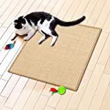 Floori® Sisal Kratzteppich   Naturfaser: nachhaltig und umweltfreundlich   Kratzmatte für die Krallenpflege Ihrer Katze   Natur