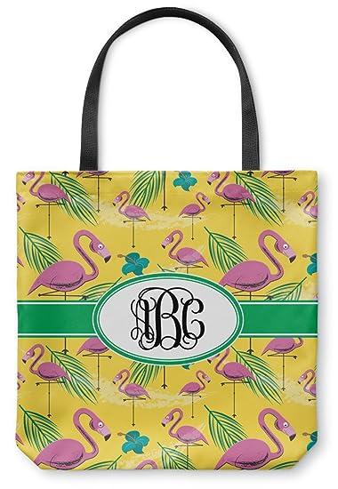 a84b827b3 Amazon.com: Pink Flamingo Canvas Tote Bag (Personalized): Clothing