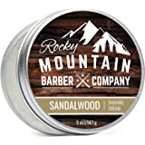Shaving Cream for Men - Canadian Made With Sandalwood Essential Oil - Hydrating, Rich & Thick Lather for All Skin Types by Ro