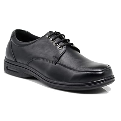 New FINN Mens Black Oil Resistant Professional Restaurant Anti Slip Restaurant Rubber Air Sole Working Comfy Industrial Shoes (11, Finn 01): Shoes
