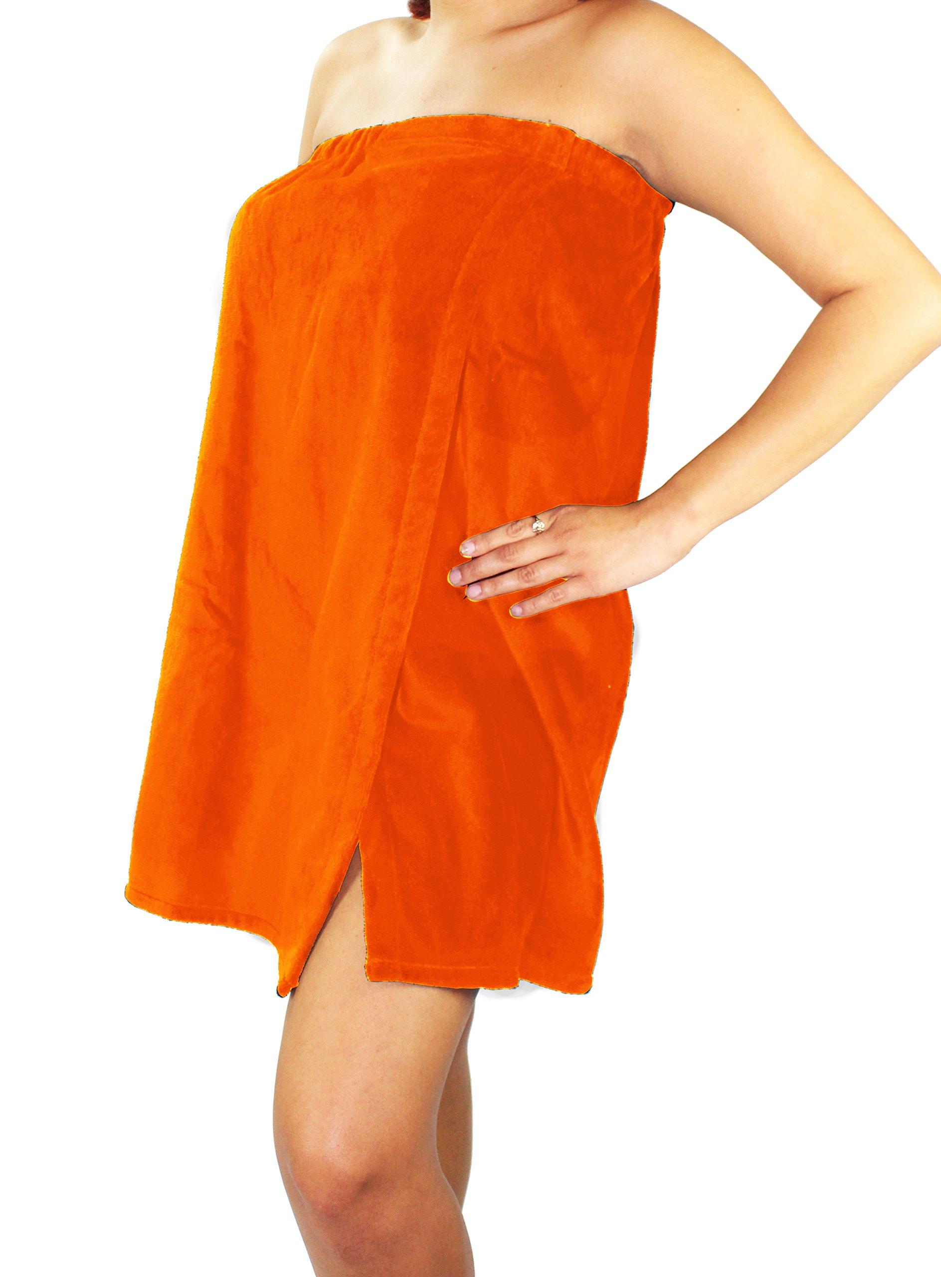 Sanders Classics 25'' Terry Towel Wrap - Orange