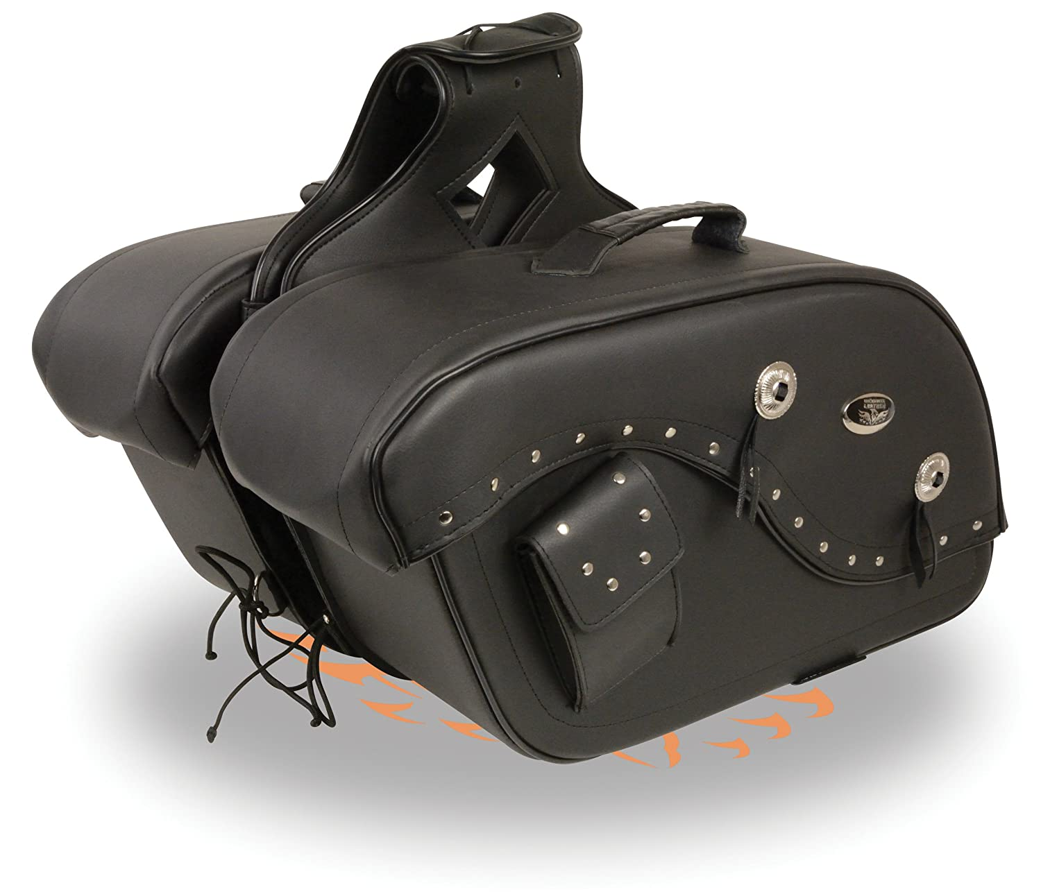 Milwaukee Leather MP8300-BLK-PCS Black Saddle Bag