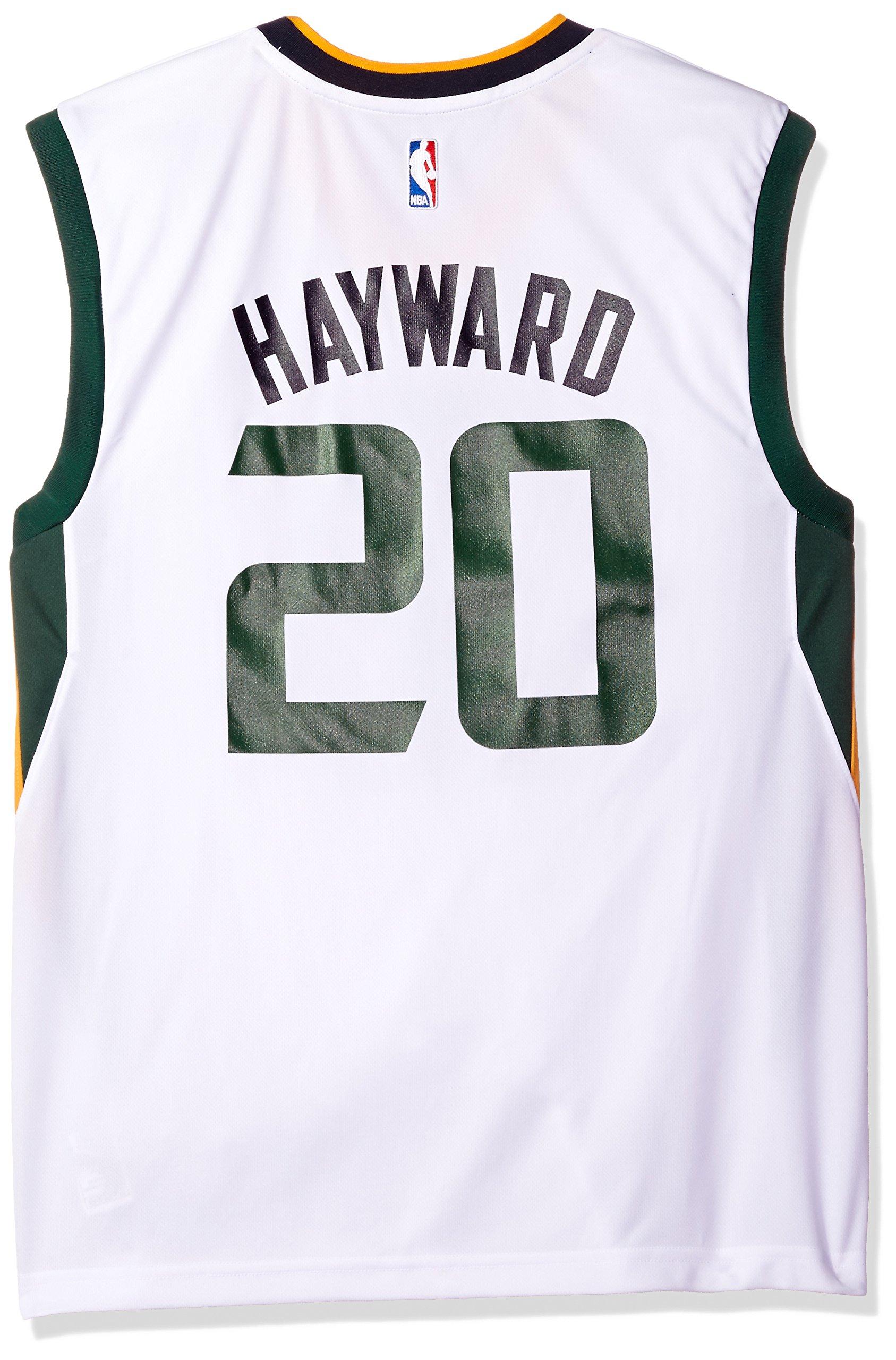 save off f09f4 6625d NBA Men's Utah Jazz Gordon Hayward Replica Player Home Jersey, Large, White