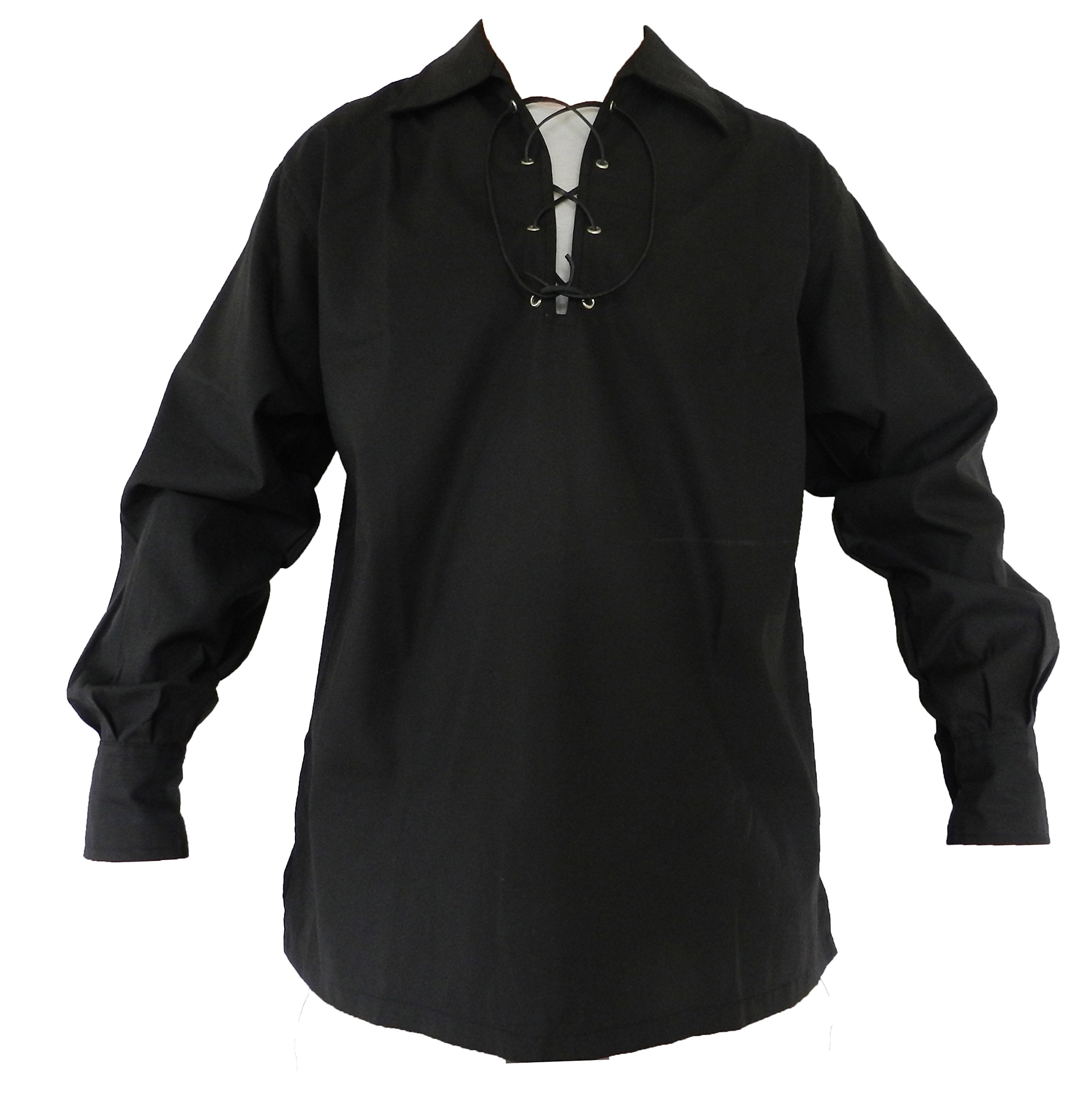 UT Kilts Jacobite Ghillie Shirt Black Large