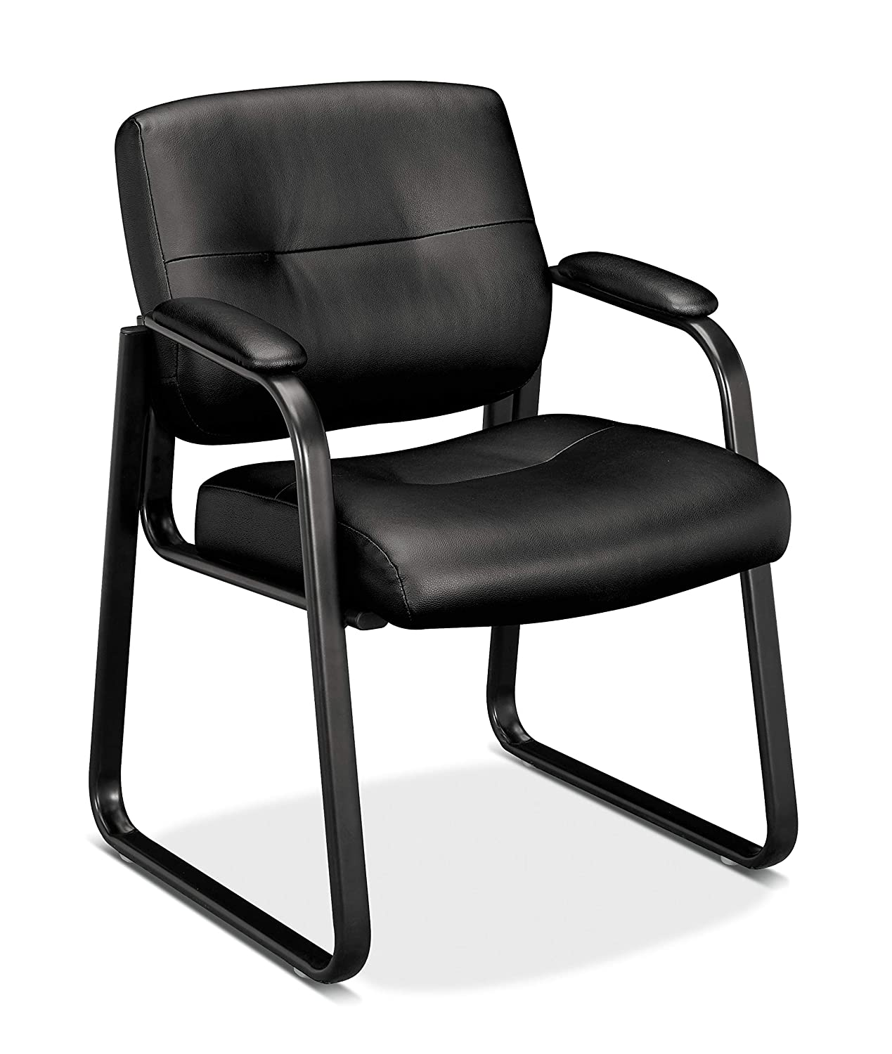 basyx by HON VL690 Series Guest Chair with Sled Base and Padded Arms, Black BSX (Basyx) c/o HON BSXVL693SB11