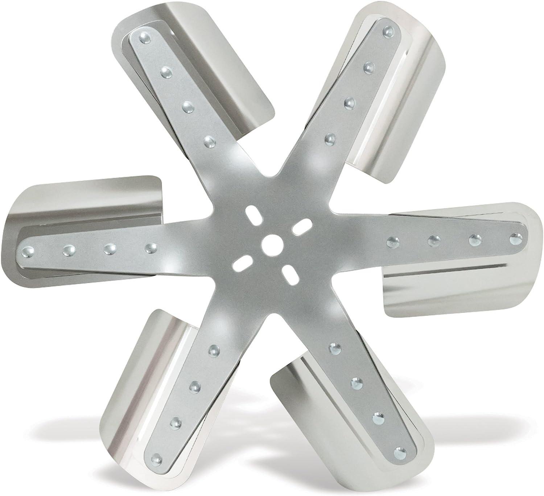 Silver Flex-a-lite 2218 18 6-Blade CCW Belt Driven Flex Fan