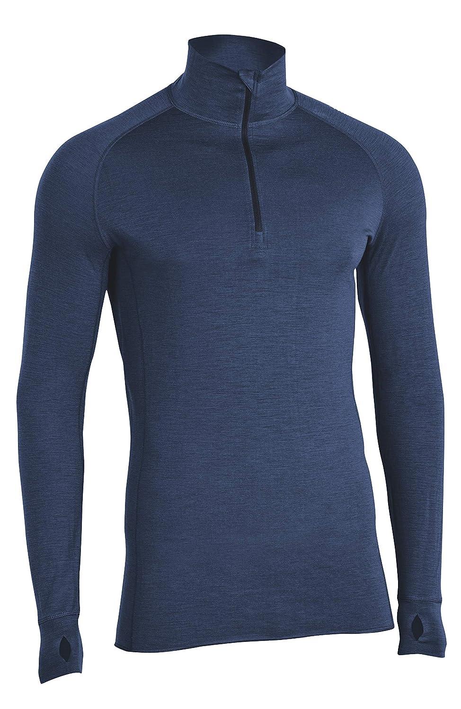 MERINO POWER Merinopower Herren Funktionsunterhemd mit Stehkragen und Zipper Langarm aus 100% natürlicher Merinowolle