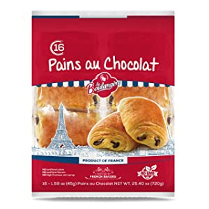 La Boulangere Pains Au Chocolat, Chocolate Croissants, Individually Wrapped, Non GMO, Free From Artificial Flavors & Colors, 16-Count