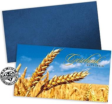 10 Geschenkgutscheine DIN-lang 10 Kuverts 10 Schleifen G92001 Gutscheine f/ür Restaurant Gasthaus