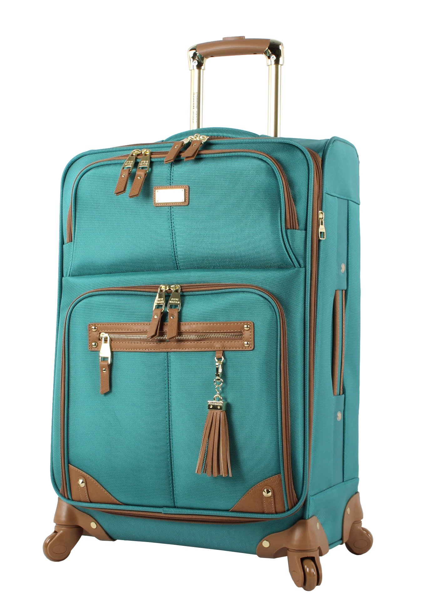 Steve Madden Luggage Large 28'' Expandable Softside Suitcase With Spinner Wheels (28in, Harlo Teal Blue)