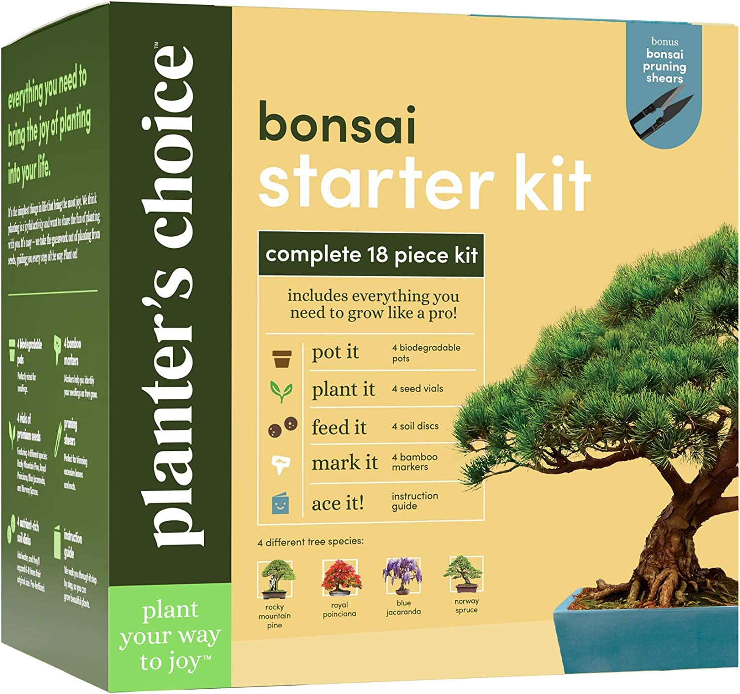 Amazon Com Bonsai Starter Kit The Complete Growing Kit To Easily Grow 4 Bonsai Trees From Seed Comprehensive Guide Bamboo Plant Markers Unusual Gardening Gifts Ideas For Women,French Country Style Interior Design Bedroom