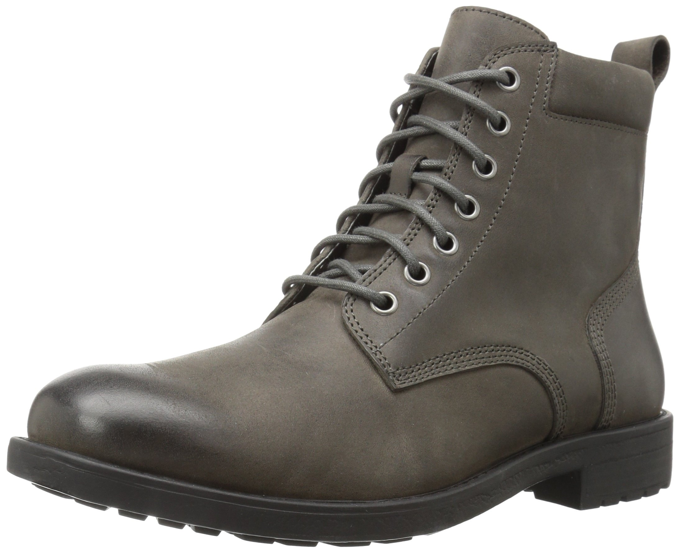 206 Collective Men's Denny Lace-up Motorcycle Boot, Charcoal Gray, 11 D US
