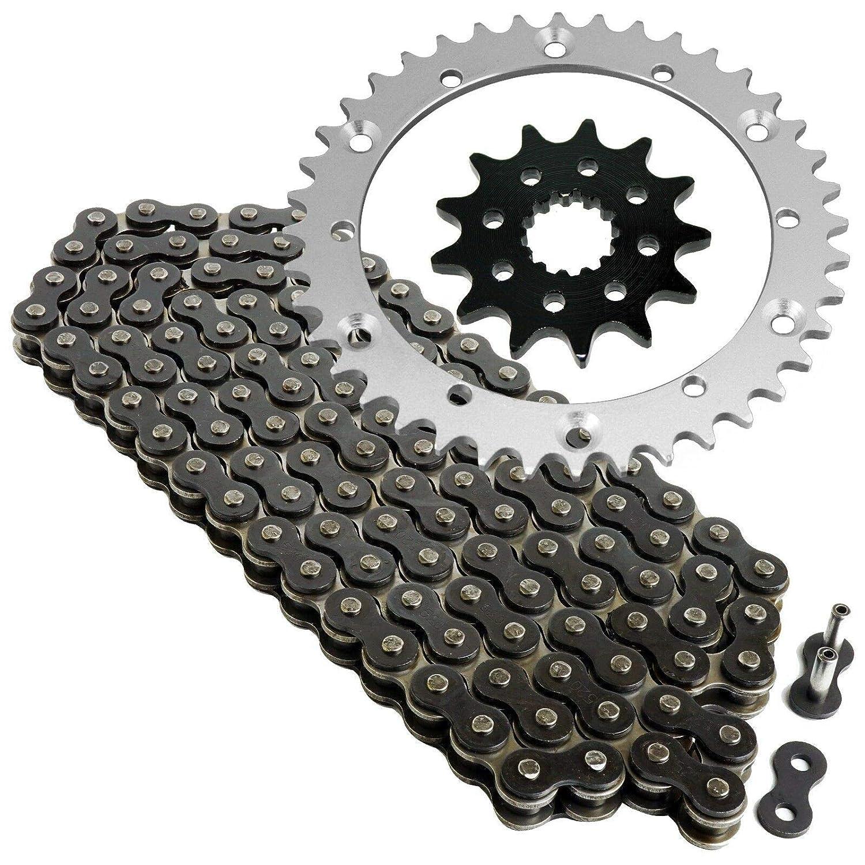 CALTRIC Black Drive Chain and Sprockets Kit Fits YAMAHA RAPTOR 660R YFM660R 2001 2002 2003 2004 2005