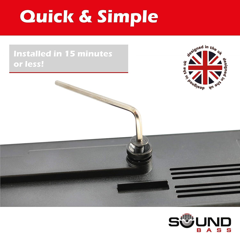 Materiales de Montaje Incluidos Kit Completo de Soporte de Pared para Bose Solo 5 Solo 5 Dise/ñado en UK por Soundbass.