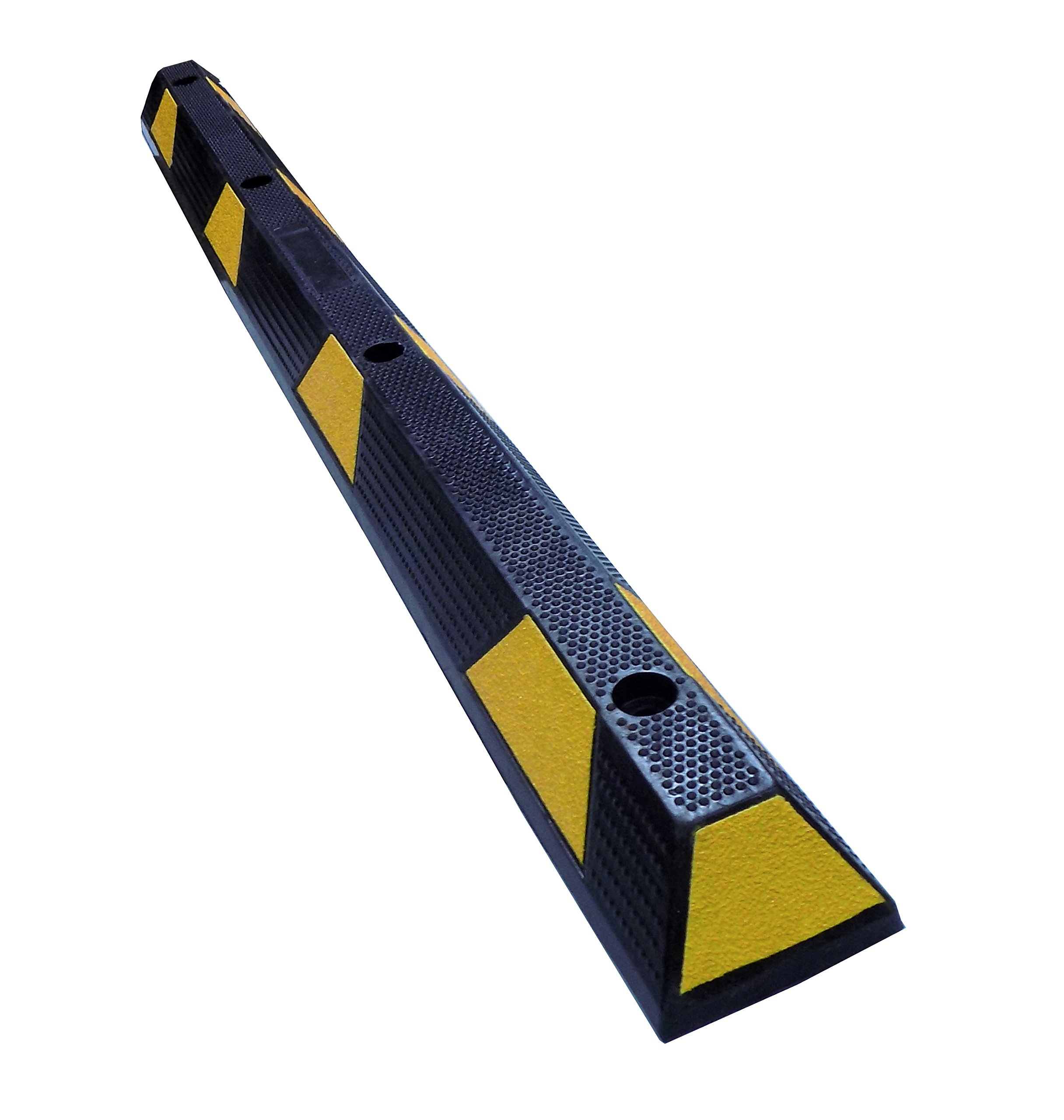 Electriduct 72'' Heavy Duty Rubber Parking Block Curb 3.75'' Height - Black/Yellow Stripe by Electriduct (Image #1)