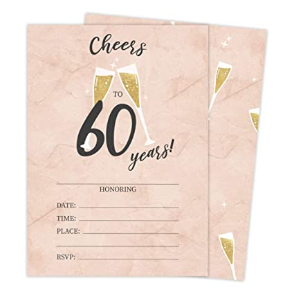 Amazon Com 60th Birthday Style R Happy Birthday Invitations
