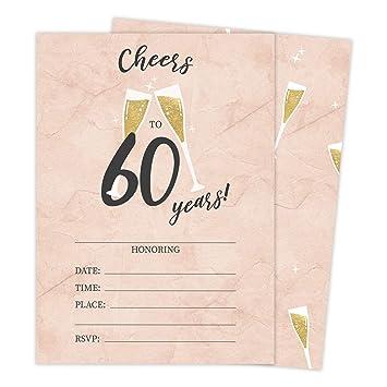Tarjetas de invitación para 60 cumpleaños estilo R Happy ...