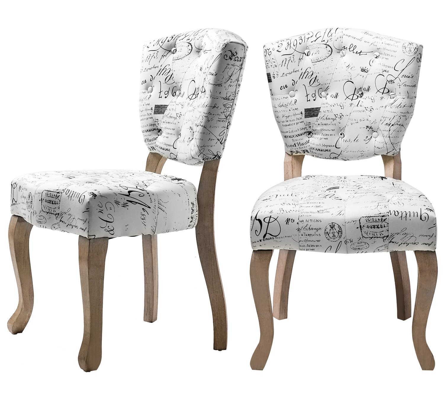 Harper Bright Designs Velvet Fabric Tufted Dining Chair Set of 2 Upholstered Accent Chair with Wood Legs Elegant Dining Room Furniture Beige 2