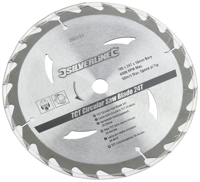 Silverline 260333 Hartmetall-Kreissä geblä tter mit 20, 24 und 40 Zä hnen, 3er-Pckg. 190 x 16, kein Reduzierstü ck Toolstream Limited - DE