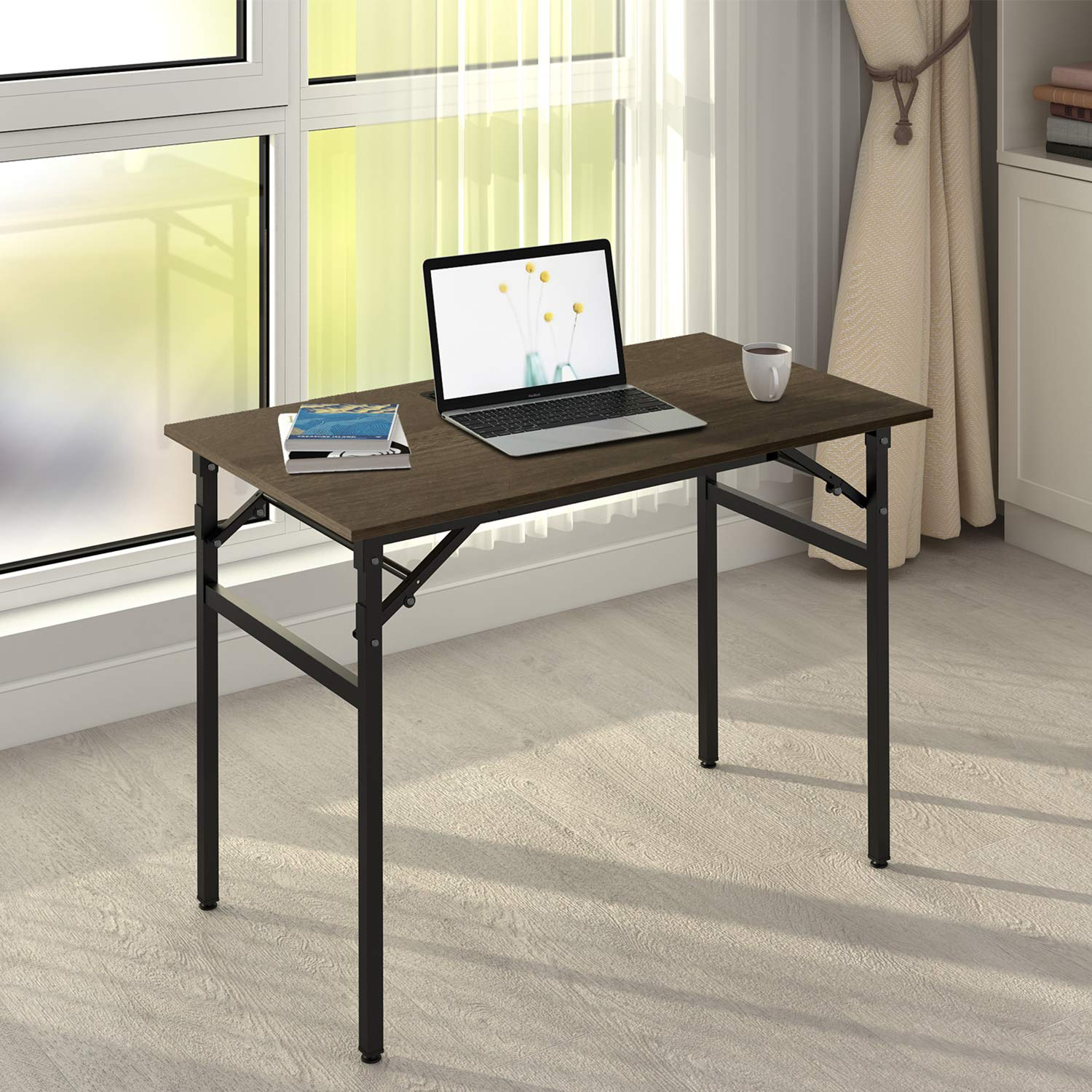 DEVAISE 42'' Folding Computer Desk No Assembly, Laptop PC Workstation, Study Writing Table for Home Office by DEVAISE