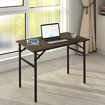 DEVAISE Folding Desk, 42 Computer Desk for Home Office No Assembly Required
