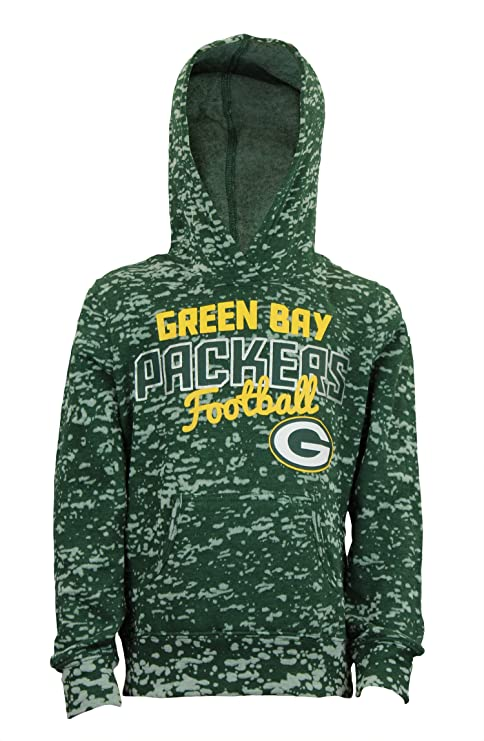 premium selection 68f22 f1d39 Outerstuff Green Bay Packers NFL Youth Girls Fleece Hoodie, Green