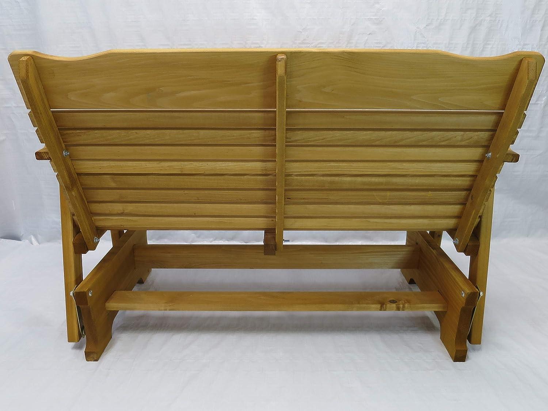 Amish Crafted Kilmer Creek 4 Cedar Porch Glider W//stained Finish