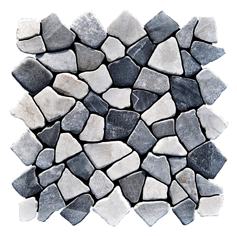 Naturstein Marmormosaik Bruchstein Mosaikfliesen Lager Verkauf Stein-Mosaik Herne NRW Bad-Design M-1-008 1 m/² = 11 Fliesen