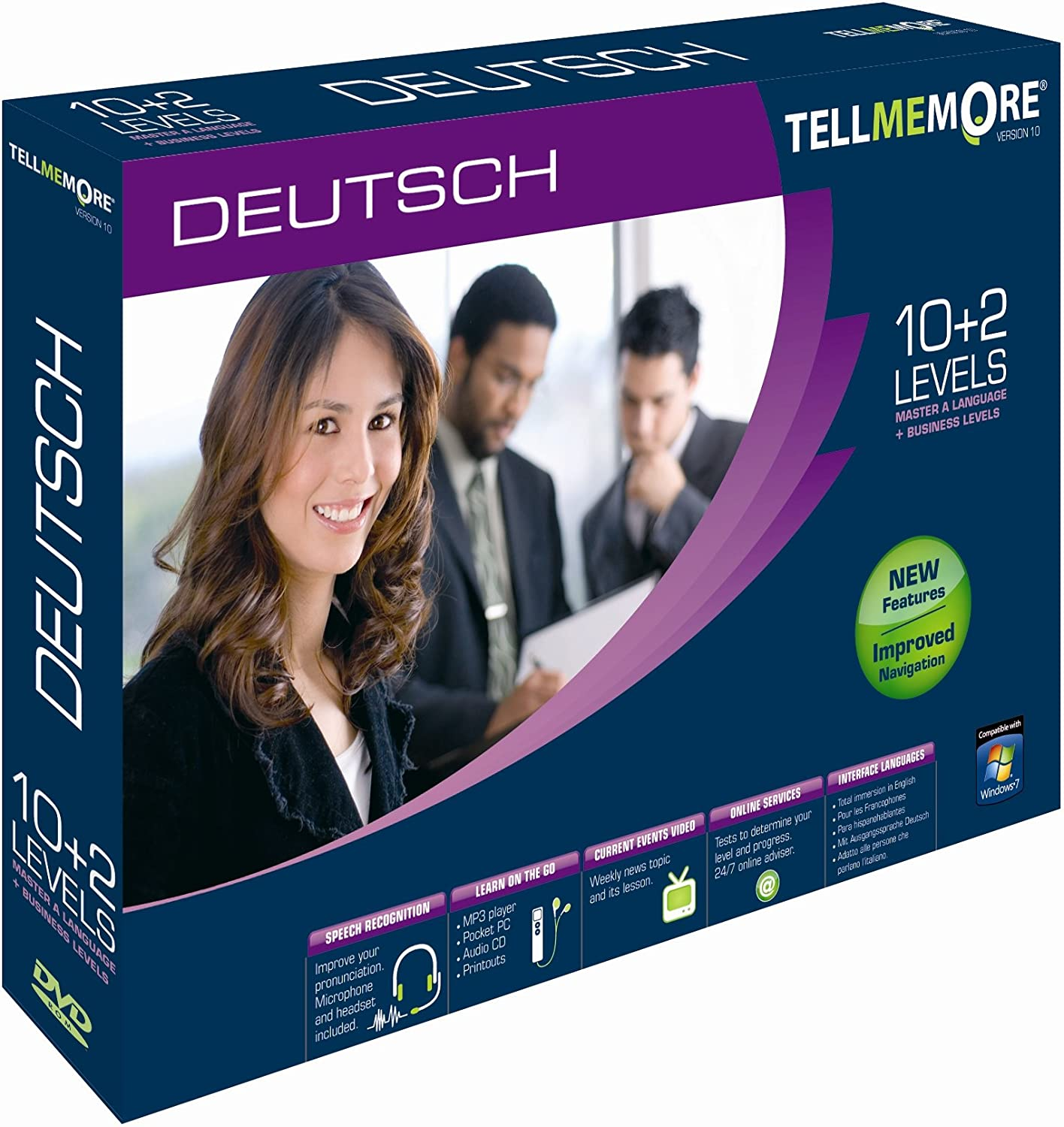 Tell Me More German V10 10 Levels Business Pc Dvd Amazon Co Uk Software