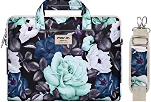 MOSISO Laptop Shoulder Bag Compatible with 2019 MacBook Pro 16 inch A2141, 15 15.4 15.6 inch Dell Lenovo HP Asus Acer Samsung Sony Chromebook,Succulent Carrying Briefcase Sleeve Case with Trolley Belt