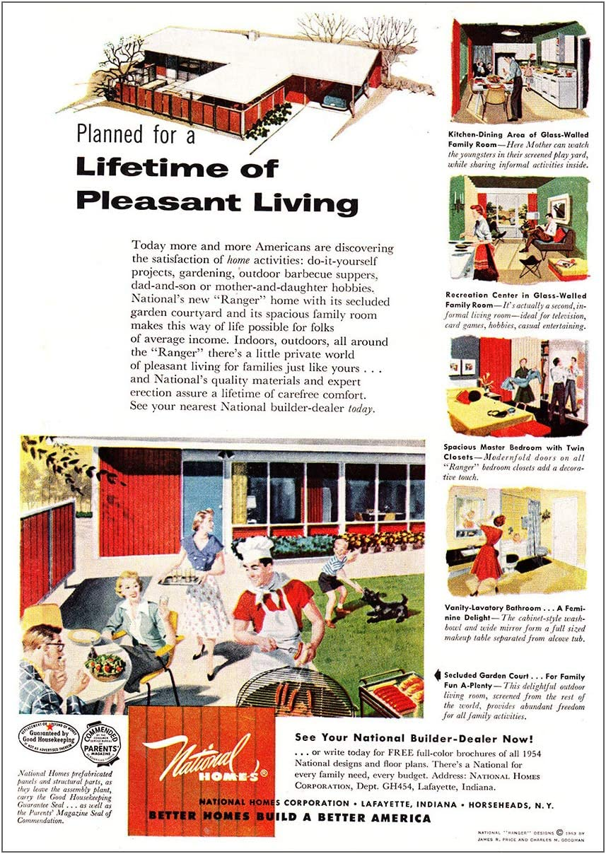 Amazon Com Relicpaper 1954 National Homes Lifetime Of Pleasant