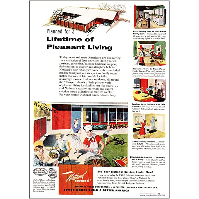 Amazon.com: RelicPaper 1954 National Homes: Lifetime of ... on national homes floor plans, national homes 1953, national homes prefab homes, national homes 1950s,