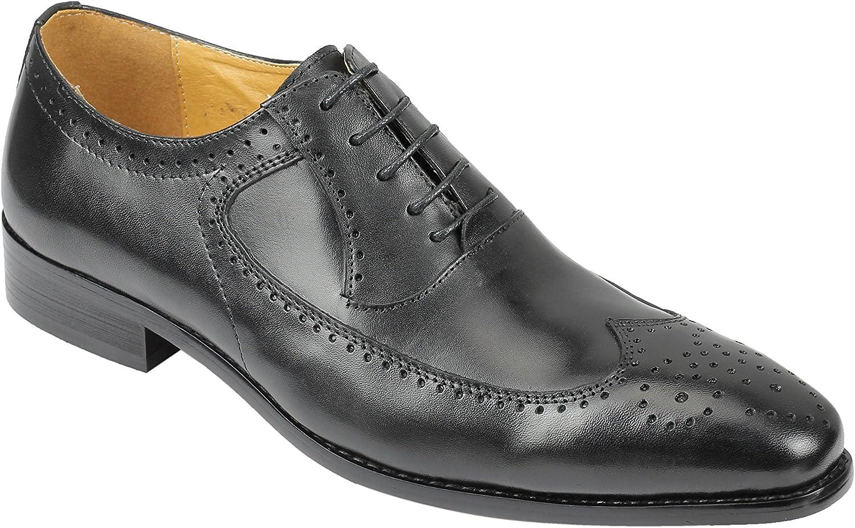 Xposed Zapatos de Cordones de Piel para Hombre