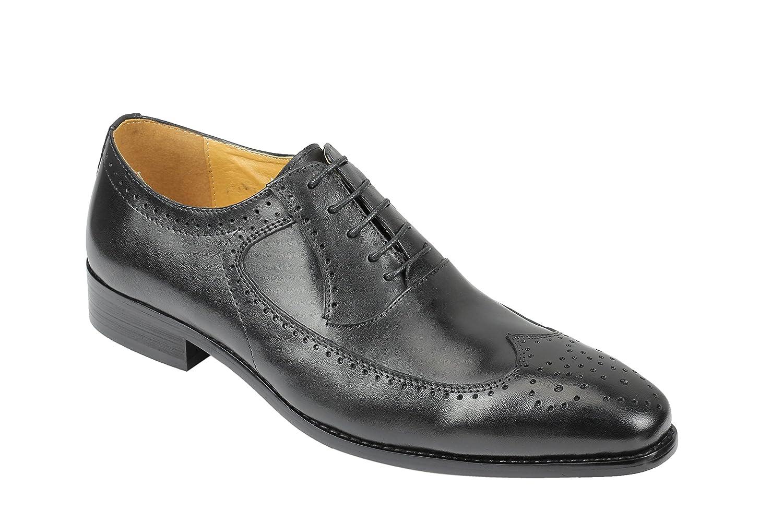 TALLA 45 EU. Xposed Zapatos de Cordones de Piel para Hombre