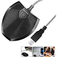 Neewer 192KHZ/24Bit USB Omnidirectional Condenser Microphone for Video Conference, Recording, Skype, Online Class, Court…