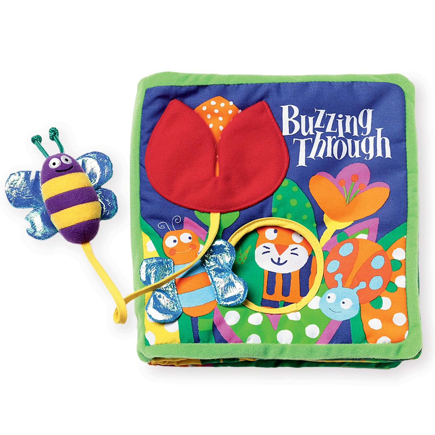 Manhattan Toy Soft Activity Book With Tethered Toy, Buzzing Through by Manhattan Toy