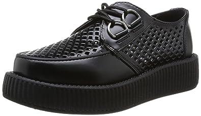 Viva Low Round Creepers, Damen Sneaker Schwarz Schwarz 44 T.U.K.