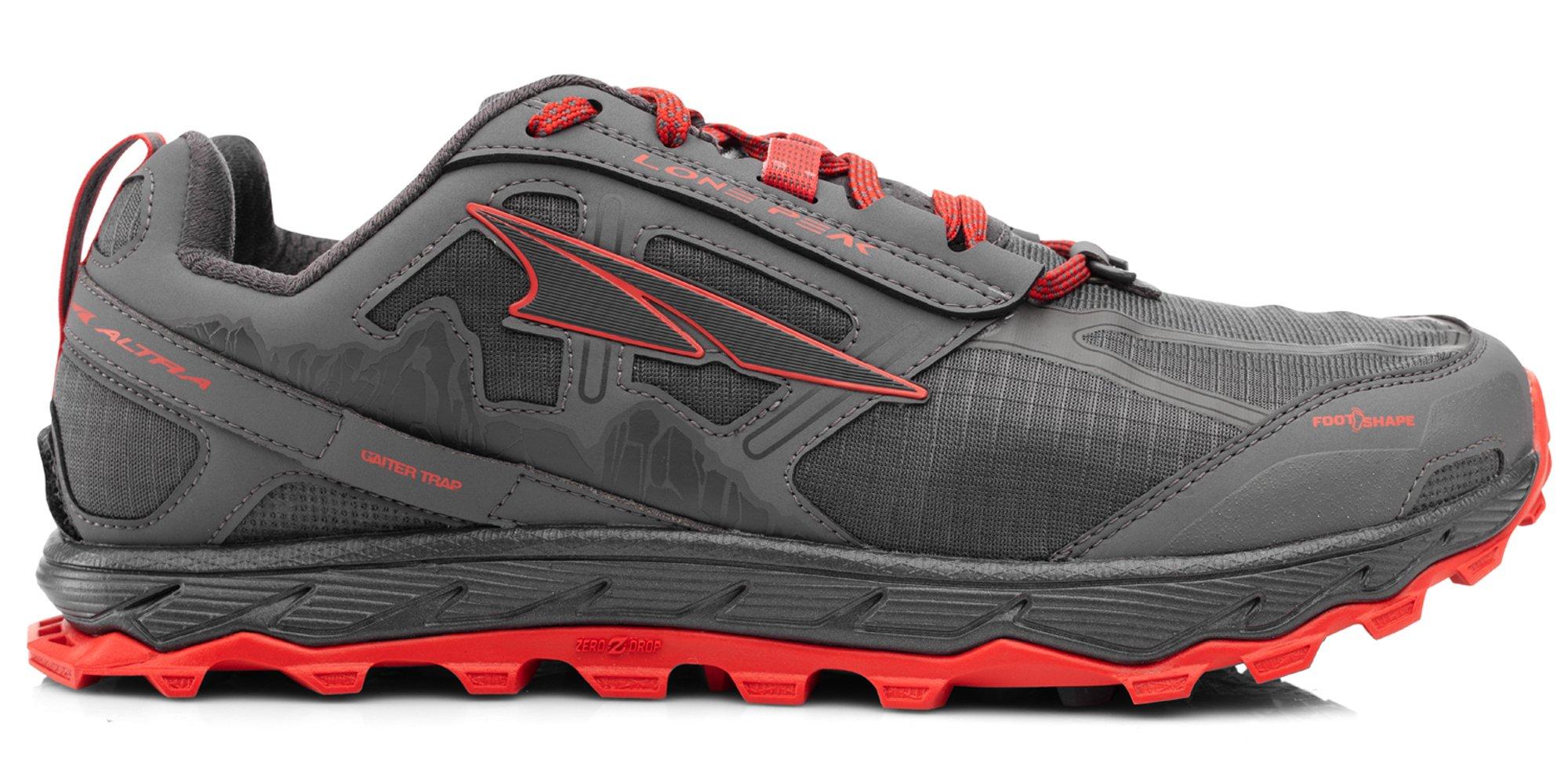 Altra AFM1855F Men's Lone Peak 4.0 Trail Running Shoe, Gray/Orange - 7 D(M) US