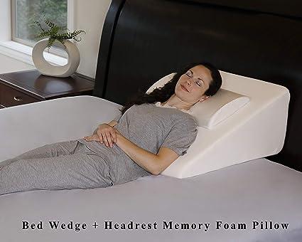 "Amazon.com: intevision Wedge cama almohadas (25"" x ..."