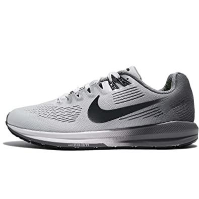 NIKE Women's W Air Zoom Structure 21, Pure PLATIMUM/Anthracite, ...