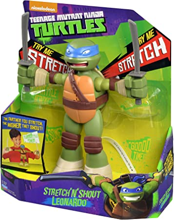 Teenage Mutant Ninja Turtles Stretch N Shout Leonardo Figure