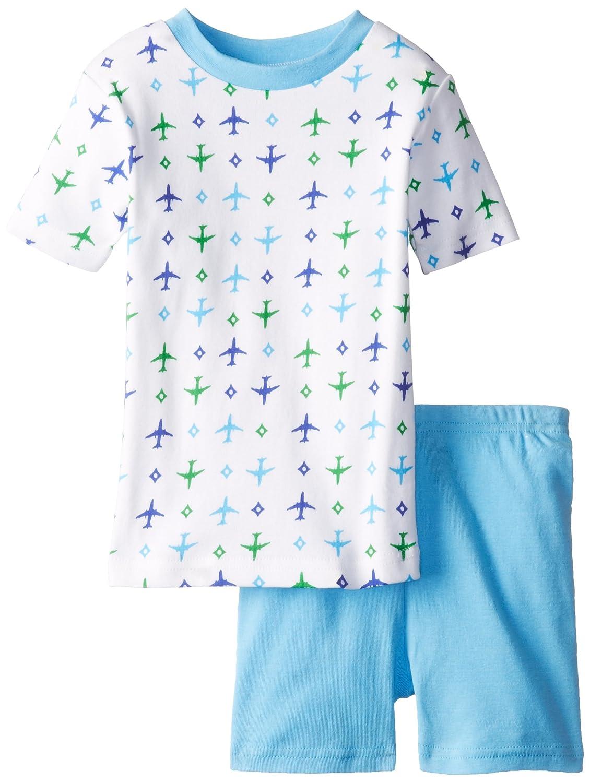 New Jammies Little Boys Organic Pajama Short Set Airplanes 113-P53B
